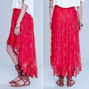 Free People - Dancin' With Myself Lace Skirt